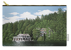 Carry-all Pouch featuring the painting De Groote Summer Home Muskoka by Kenneth M Kirsch