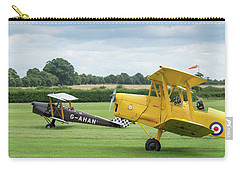 Carry-all Pouch featuring the photograph De Havilland Tiger Moths Taxiing by Gary Eason