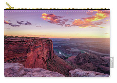 Carry-all Pouch featuring the photograph Dead Horse Point Sunset by Darren White