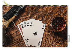 Dead Mans Hand A Gun And A Shot Of Whiskey Carry-all Pouch