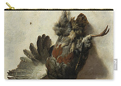 Dead Partridge Hanging From A Nail Carry-all Pouch