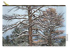 Dead Ponderosa Pines In Winter Carry-all Pouch