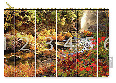 Dead River Falls Marquette Michigan Panoramic Map Carry-all Pouch