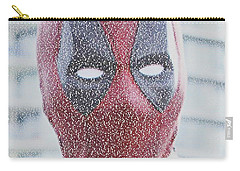 Deadpool Quotes Mosaic Carry-all Pouch by Paul Van Scott