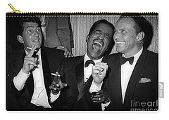 Dean Martin, Sammy Davis Jr. And Frank Sinatra Laughing Carry-all Pouch