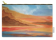 Carry-all Pouch featuring the painting Death Valley by Ellen Levinson