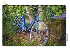 Carry-all Pouch featuring the photograph Deb's Schwinn I by Craig J Satterlee