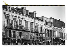 Decatur Street New Orleans In Black And White Carry-all Pouch