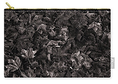 Decayed Autumn Leaves On The Ground Copper Tone Carry-all Pouch