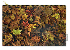 Decayed Autumn Leaves On The Ground Carry-all Pouch
