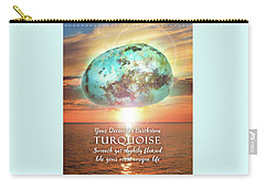 December Birthstone Turquoise Carry-all Pouch