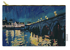 December Lights At The Old Bridge Carry-all Pouch