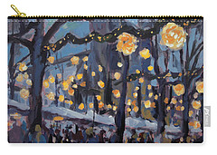 December Lights At The Our Lady Square Maastricht 1 Carry-all Pouch by Nop Briex