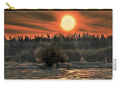December Sun #f3 Carry-all Pouch by Leif Sohlman