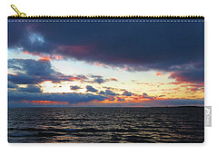 December Sunset, Wolfe Island, Ca. View From Tibbetts Point Lighthouse Carry-all Pouch