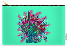 Carry-all Pouch featuring the digital art Deco Anemone by Adria Trail