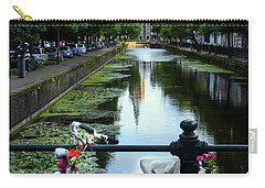 Carry-all Pouch featuring the photograph Canal And Decorated Bike In The Hague by RicardMN Photography