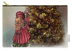Decorating Tree Carry-all Pouch by Mary Timman