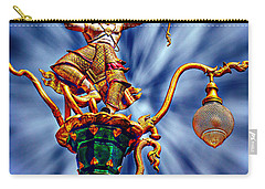 Decorative City Lamp Post Khon Kaen-thailand Carry-all Pouch by Ian Gledhill