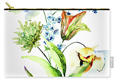 Decorative Flowers Carry-all Pouch