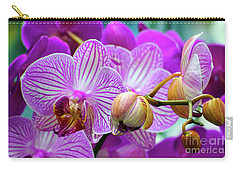 Carry-all Pouch featuring the photograph Decorative Fuschia Orchid Still Life by Mas Art Studio