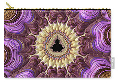 Carry-all Pouch featuring the photograph Decorative Luxe Mandelbrot Fractal Purple Gold by Matthias Hauser