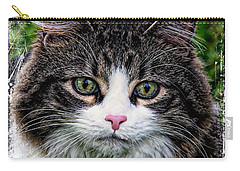 Carry-all Pouch featuring the mixed media Decorative Maine Coon Cat A4122016 by Mas Art Studio