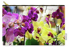 Carry-all Pouch featuring the photograph Decorative Orchids Still Life B82418 by Mas Art Studio