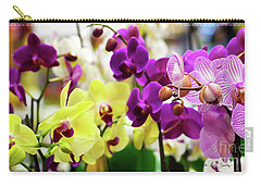 Carry-all Pouch featuring the photograph Decorative Orchids Still Life C82418 by Mas Art Studio