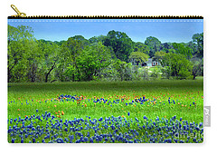 Decorative Texas Homestead Bluebonnets Meadow Mixed Media Photo H32517 Carry-all Pouch