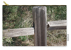 Carry-all Pouch featuring the photograph Decorative View - Central Texas Fence Line by Ray Shrewsberry