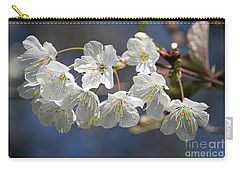 Deep Blue  Cherry Blossom Carry-all Pouch