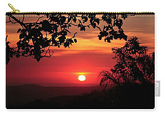 Carry-all Pouch featuring the photograph Deep Orange Sunset by Ellen Barron O'Reilly