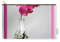 Carry-all Pouch featuring the photograph Deep Pink  Orchids by Linda Phelps