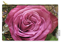 Deep Pink Rose Carry-all Pouch by Jim Harris