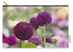 Deep Purple Dahlias Carry-all Pouch
