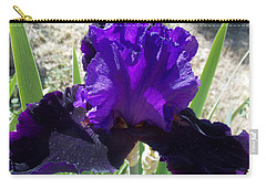 Deep Purple Iris Agape Gardens Carry-all Pouch