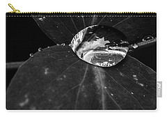 Carry-all Pouch featuring the photograph Deep Refraction Between Leaves by Darcy Michaelchuk