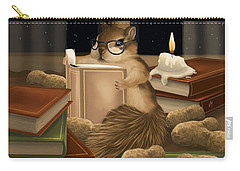Carry-all Pouch featuring the painting Deep Study by Veronica Minozzi