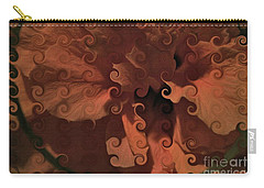 Deep Wine Curlicue Hibiscus Carry-all Pouch