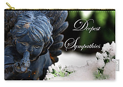 Carry-all Pouch featuring the photograph Deepest Sympathies Angel by Shelley Neff