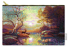 Deer And Dancing Shadows Carry-all Pouch