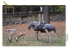 Deer And Ostriches Carry-all Pouch