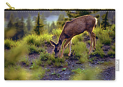 Deer At Crater Lake, Oregon Carry-all Pouch by John A Rodriguez
