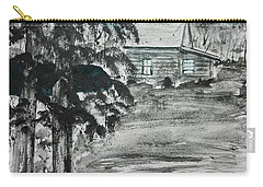 Carry-all Pouch featuring the painting Deer Camp by Jack G Brauer
