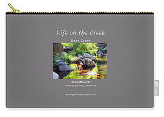 Deer Creek Ferns - White Text Carry-all Pouch