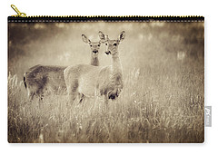 Deer In Sepia Carry-all Pouch