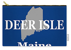 Carry-all Pouch featuring the photograph Deer Isle Maine State City And Town Pride  by Keith Webber Jr