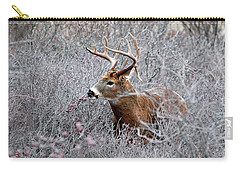 Deer On A Frosty Morning  Carry-all Pouch by Nancy Landry
