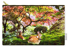 Deer Relaxing In A Meadow Carry-all Pouch